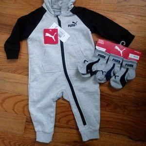 Puma one piece outfit & matching socks